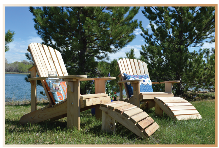adirondack chairs with footrests